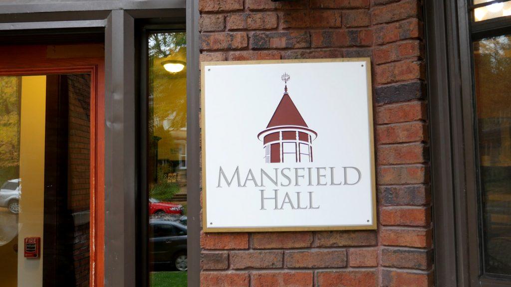 Mansfield Hall sign